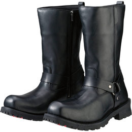 Z1R Mens Riot Waterproof Leather Motorcycle Riding Boots Black