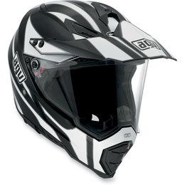 Black, White Agv Ax-8 Evo Tour Dual Sport Helmet Black White
