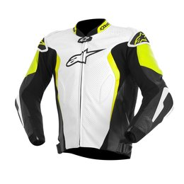 White, Black, Yellow Alpinestars Mens Gp Tech Leather Jacket 2015 Us 38 Eu 48 White Black Yellow