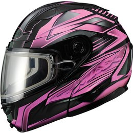 GMax Womens GM64S Carbide Modular Snow Helmet With Dual Pane Shield Pink