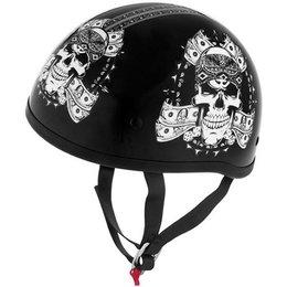 Thug Skull Skid Lid Lethal Threat Original Half Helmet