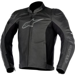 Alpinestars Mens SP-1 SP1 Airflow Armored Perforated Leather Jacket Black