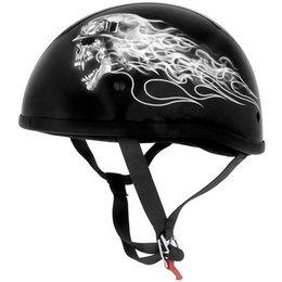 Biker Skull Skid Lid Original Half Helmet
