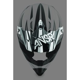 Black, White Answer Replacement Visor For Dyno Helmet Black White