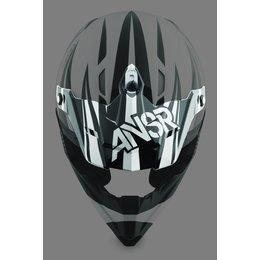 Black, White Answer Replacement Visor For Dyno Helmet Black White