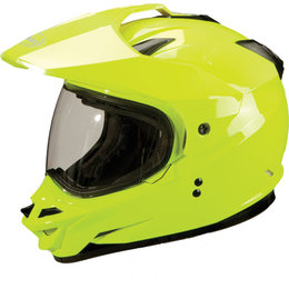 Hi-vis Yellow Gmax Gm11s Dual Sport Snow Helmet With Dual Pane Shield