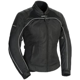 Tour Master Womens Intake Air 4.0 Armored Mesh Textile Riding Jacket Black