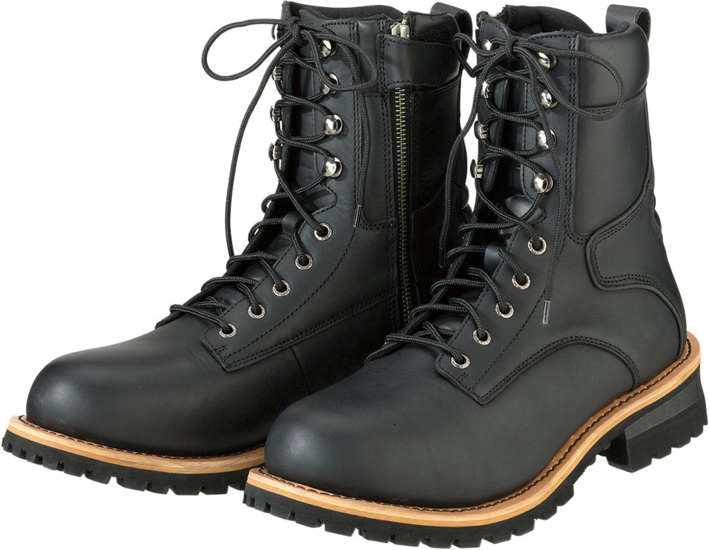 Z1r Mens M4 Waterproof Leather Motorcycle Riding Boots