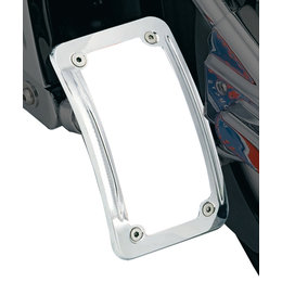 Kuryakyn Side Mount License Plate Holder Curved Lighted Chrome Universal