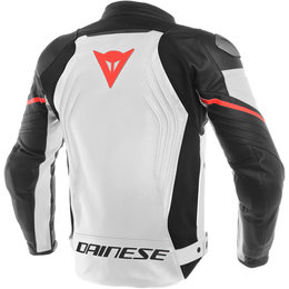 Dainese Mens Racing 3 Armored Leather Jacket White
