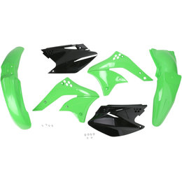 Acerbis Replacement Plastic Kit For Kawasaki KX250F 2006-2008 Green Black Green