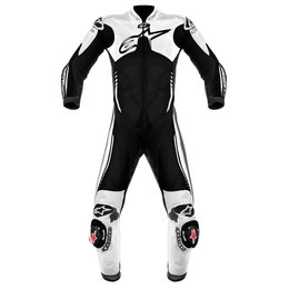 Black, White Alpinestars Atem One Piece Leather Suit Black White Us 38 Eu 48