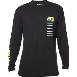 Fox Racing Mens Correspond Long Sleeve Cotton Blend T-Shirt Black