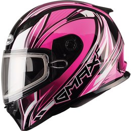 GMax Womens FF49 Sektor Full Face Snow Helmet With Dual Pane Shield Pink