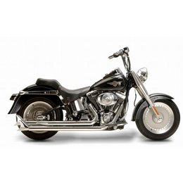 Chrome Samson Exhaust Legend Longhorns For Harley Fxst Flst 86-10