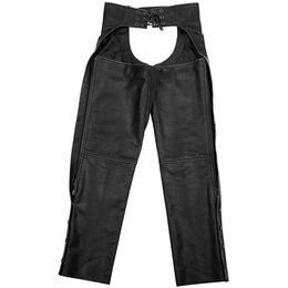 Black Brand Womens Temptress Leather Chaps Black