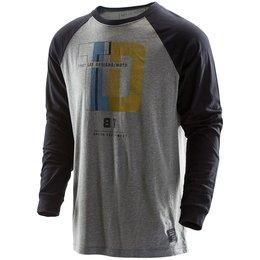 Troy Lee Designs Mens Impacto Cotton Blend Long Sleeve Graphic Shirt Black