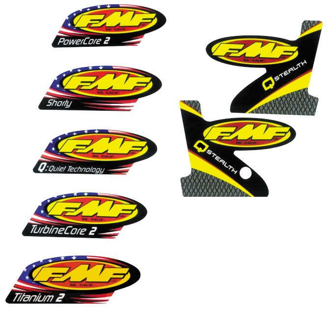 $12 81 FMF Ti Powercore 2-Part Wrap Logo Replacement #1042092