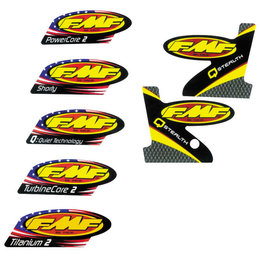 FMF Ti Powercore 2-Part Wrap Logo Replacement Decal 012639 Unpainted