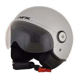 AFX FX-33 FX33 Open Face Scooter Helmet Silver