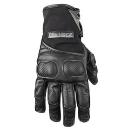 Black Speed & Strength Mens Tough As Nails 2.0 Lthr Textile Gloves 2015