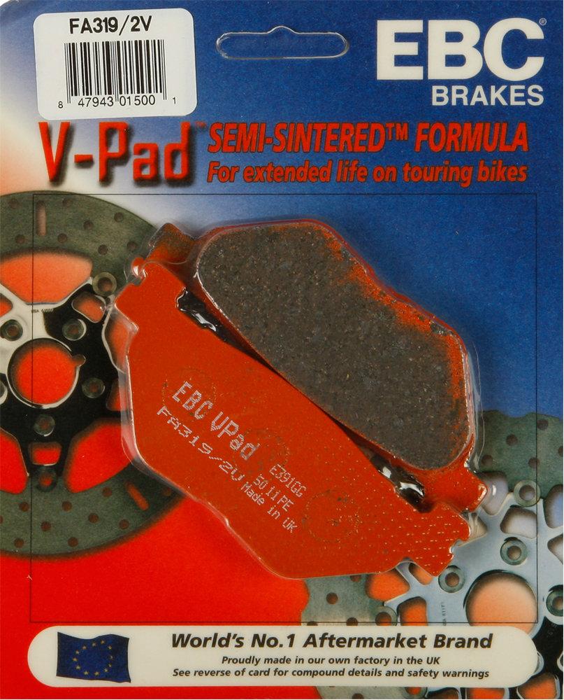 2006-2014 YAMAHA XV 1900 STRATOLINER S REAR EBC PERFORMANCE ORGANIC BRAKE PADS