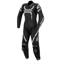 Black, White Alpinestars Womens Stella Motegi One Piece Leather Suit 2014 Eu 50 Black White