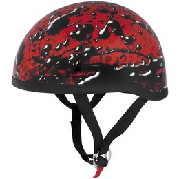 Red Skid Lid Lethal Threat Original Oil Spill Half Helmet 2013