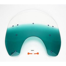 Memphis Shades 17 Inch Windshield Teal For Harley Davidson FXWG FXST FXDWG