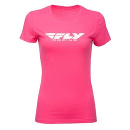 Fly Racing Womens Corporate T-Shirt Pink