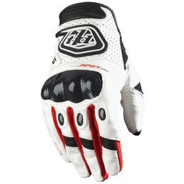 Troy Lee Designs Mens Apex Pro MX Motocross Riding Gloves White