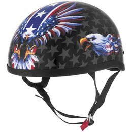 Usa Flame Eagle Skid Lid Lethal Threat Original Half Helmet 2013