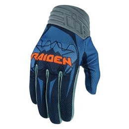 Icon Mens Raiden Arakis Armored Touchscreen Mesh Motorcycle Riding Gloves 2015 Blue