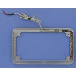 Chrome Cycle Visions Beveled License Plate Frame With Light