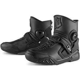 Icon Mens Accelerant Leather Boots Black