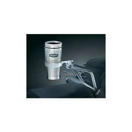 Kuryakyn Passenger Drink Holder With Stainless Mug For Harley Silver