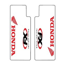 Factory Effex Upper Fork Shield Graphics Red For Honda 06-38302