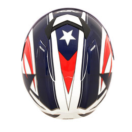 AFX FX95 Full Face Lone Star Helmet Red