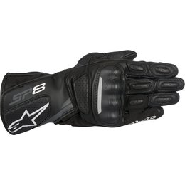 Alpinestars Mens SP-8 V2 Level-1 CE Certified Leather Performance Riding Gloves Black