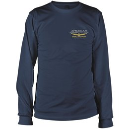 Navy Honda Mens Goldwing Touring Collection Long Sleeve T-shirt 2013