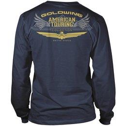 Navy Honda Mens Goldwing Touring Collection Long Sleeve T-shirt 2013