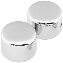 Biker's Choice Front Custom Axle Cap Set Harley FLH FXST FLST FXD Chrome 302728 Unpainted