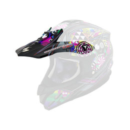 Scorpion VX-34 Demented Replacement Visor Peak MX/Offroad Helmet Accessory Black