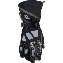 Arctiva Mens Quest Textile Snowmobile Gloves Black