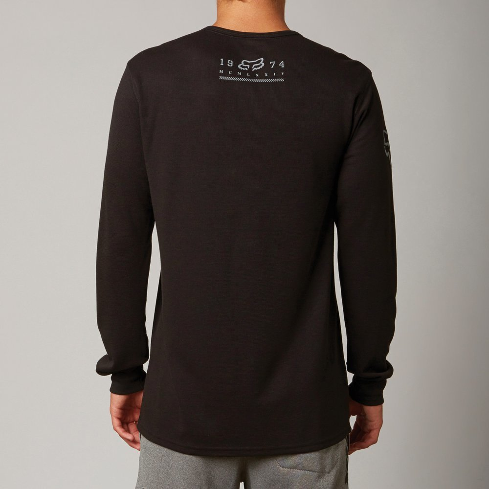 Fox racing mens reforge dri release long sleeve for Mens black thermal t shirts