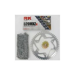 RK Chain/Sprocket Kit 520 MXZ For Suzuki RM125 92-96 00-04 Silver