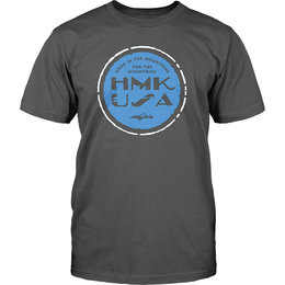 HMK Mens Bottlecap Crew Neck T-Shirt Grey