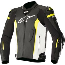 Alpinestars Mens Missile Tech-Air Compatible Armored Leather Jacket Black