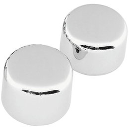 Biker's Choice Rear Custom Axle Cap Set Harley-Davidson FXST FLST Chrome 302732 Unpainted