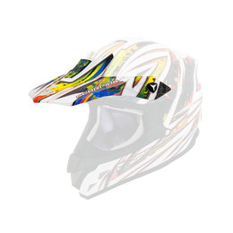 Scorpion VX-34 Trix Replacement Visor Peak MX/Offroad Helmet Accessory White
